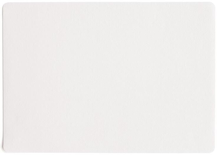 ASA Tischset Kunstleder weiß 33 x 46 cm
