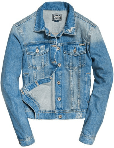 Superdry Girlfriend Denim Jacket Light Blue , Chaquetas Superdry , moda