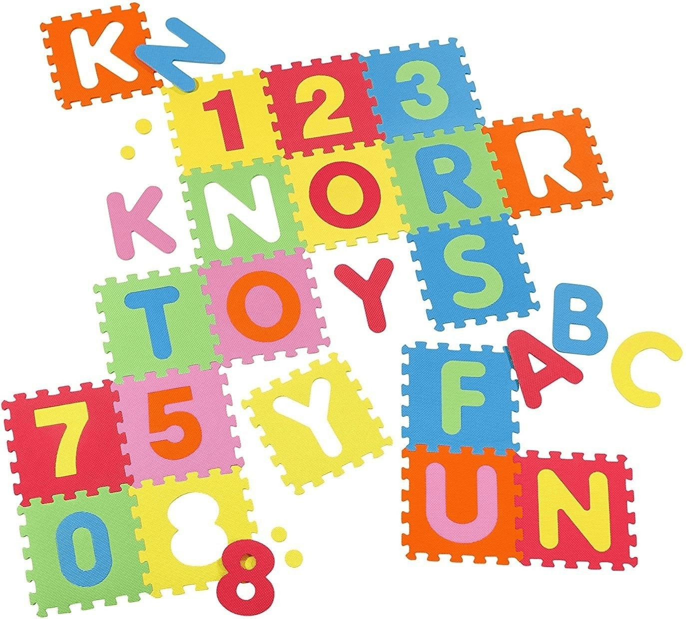 Knorrtoys Puzzlematte Alphabet und Zahlen 36 tlg.