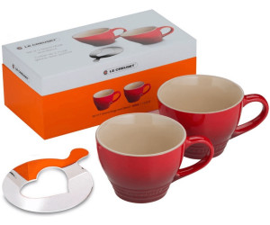 le creuset cappuccinotassen 2er set kirschrot ab 49 95 preisvergleich bei. Black Bedroom Furniture Sets. Home Design Ideas