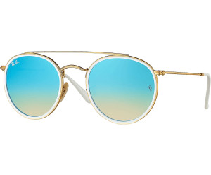 c84d56a8632f4 Ray-Ban Round Double Bridge RB3647N 001 4O (gold blue gradient flash ...
