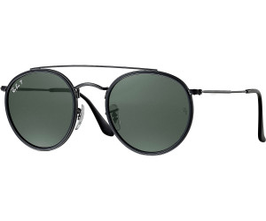 1c3210fd6c7bed Ray-Ban Round Double Bridge RB3647N 002 58 (black polarized green classic  G-15) au prix de 93,60 € sur idealo.fr