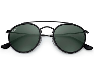 1242de85cab7ce Ray-Ban Round Double Bridge RB3647N 002 58 (black polarized green ...