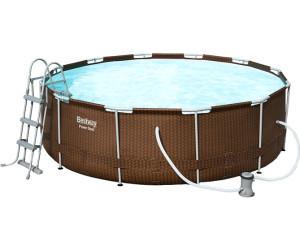 Bestway Steel Pro Frame Pool Set O 427 X 107 Cm Rattan Mit