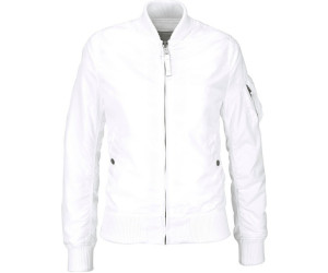 alpha industries damen jacke ma-1 tt weiß