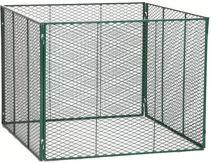 Komposter grün/verzinkt      100x100x80cm