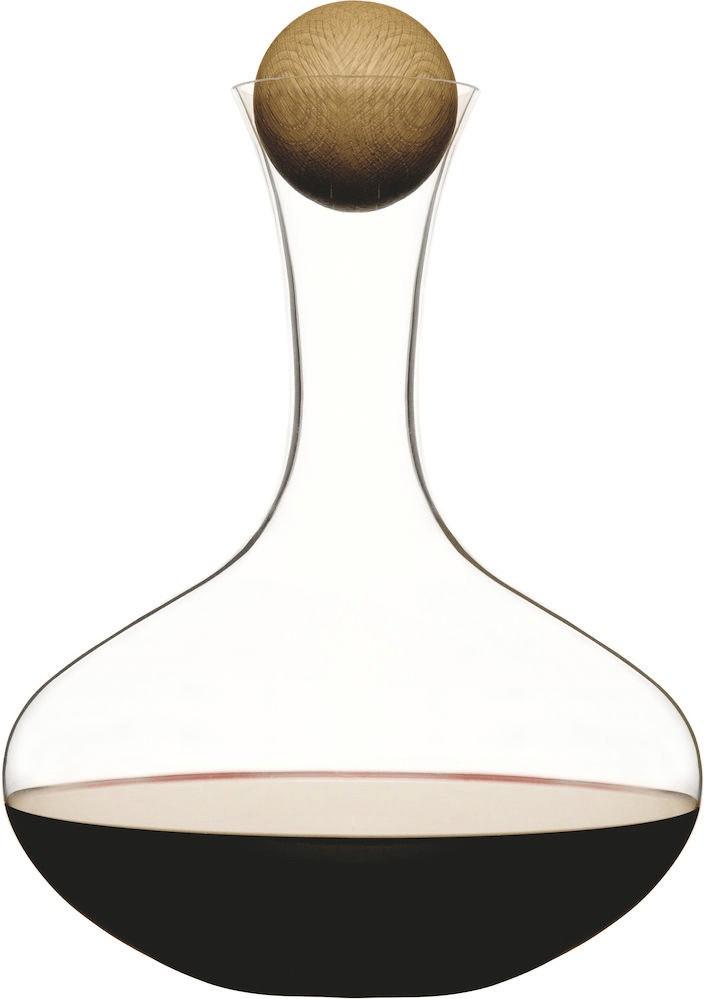 Sagaform Oval Oak Rotweinkaraffe