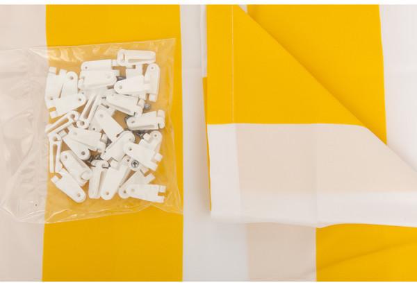 Windhager Sonnenschutz-Segel 270 x 140 cm gelb-weiß