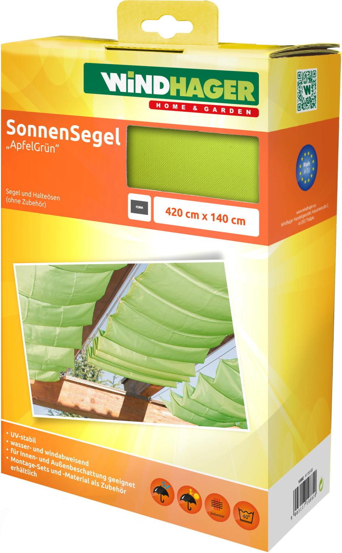 Windhager Seilspann-Markise 420 x 140 cm apfelgrün