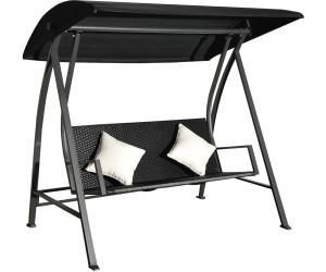 outsunny hollywoodschaukel polyrattan mit kissen ab 224 90 preisvergleich bei. Black Bedroom Furniture Sets. Home Design Ideas