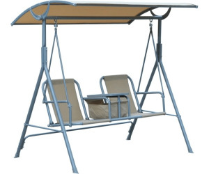 outsunny metall gartenschaukel 2 sitzer beige 84a 028 ab 87 90 preisvergleich bei. Black Bedroom Furniture Sets. Home Design Ideas