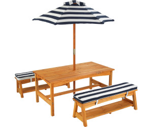 Kidkraft Gartentisch Und Banke Mit Sitzkissen Und Sonnenschirm