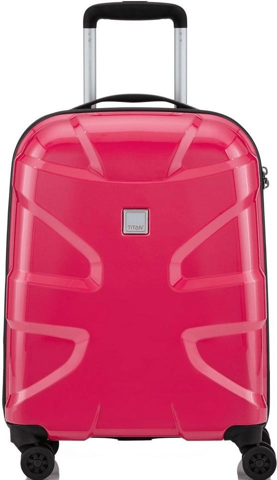 Titan X2 Flash 4 Wheel Trolley 55 cm fresh pink