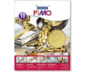 Fimo Blattmetall 10 Blatt gold