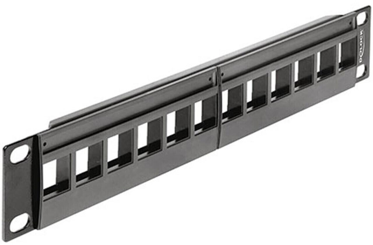 "Image of DeLock 12-Port Patch Panel 10"" 1U (43259)"