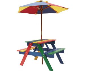 Colourliving Bank Tisch Und Sonnenschirm Picknick Set Holz 680910