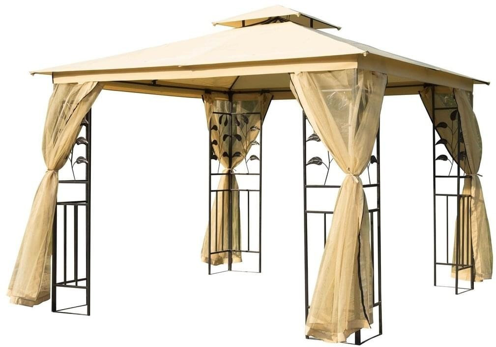 Outsunny Luxus Pavillon Pagode 3x3m (01-0874)