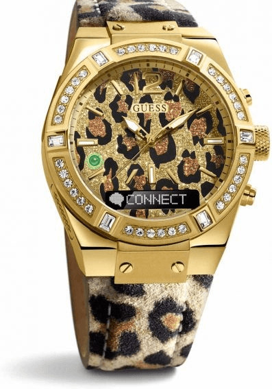 Image of Guess Connect 41mm Animal and Gold (C0002M6)