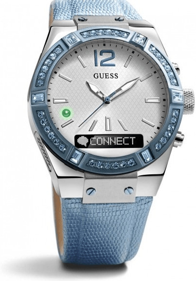 Image of Guess Connect 41mm silver & skyblue (C0002M5)