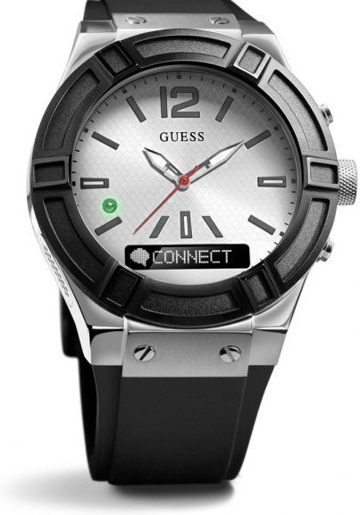 Image of Guess Connect 45mm silver & black (C0001G4)