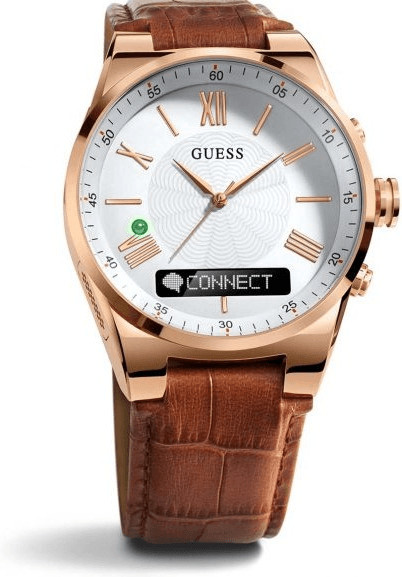 Image of Guess Connect 43mm rose gold & brown (C0002MB4)