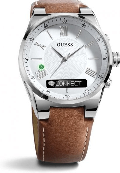 Image of Guess Connect 43mm Silver & Brown (C0002MB1)