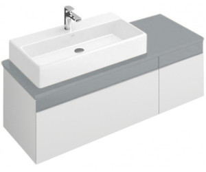 Villeroy & Boch Memento (Waschtisch links) (White Matt Lacquer/Glass ...