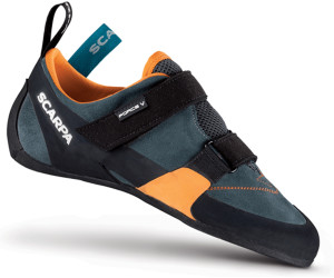 Scarpa Force V Blau-Orange, Damen Kletterschuh, Größe EU 36.5 - Farbe Icefall-Mandarin Damen Kletterschuh, Icefall - Mandarin, Größe 36.5 - Blau-Orange