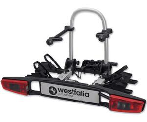 Modell 2018 Westfalia BC 60 E-Bike geeigneter Universal-Radtr/äger mit 60kg Zuladung Fahrradtr/äger f/ür die Anh/ängerkupplung inkl Klappbarer Kupplungstr/äger f/ür 2 Fahrr/äder Tasche