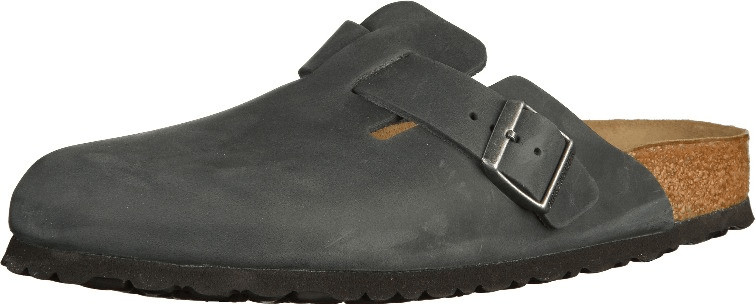 Birkenstock Boston SFB Nubukleder normal black