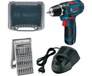Bosch GSR 12V-15 Professional (1 x 2,0 Ah + 25 tlg. Zubehör-Set)