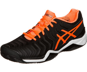 Asics Gel Resolution 7 Clay black shocking orangewhite ab