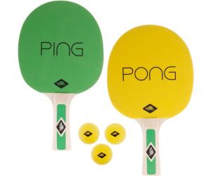 788486 3 Gelbe B/älle Donic-Schildkr/öt Tischtennis-Set Ping Pong in Tragetasche 2 Schl/äger mit Gr/ün-Gelben Bel/ägen