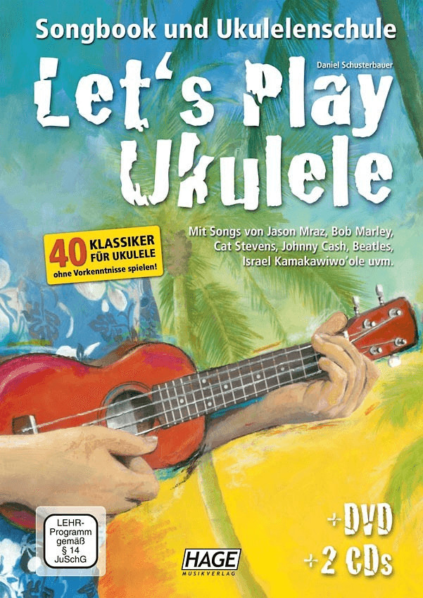 Hage Musikverlag Let´s Play Ukulele (mit 2 CDs und DVD)