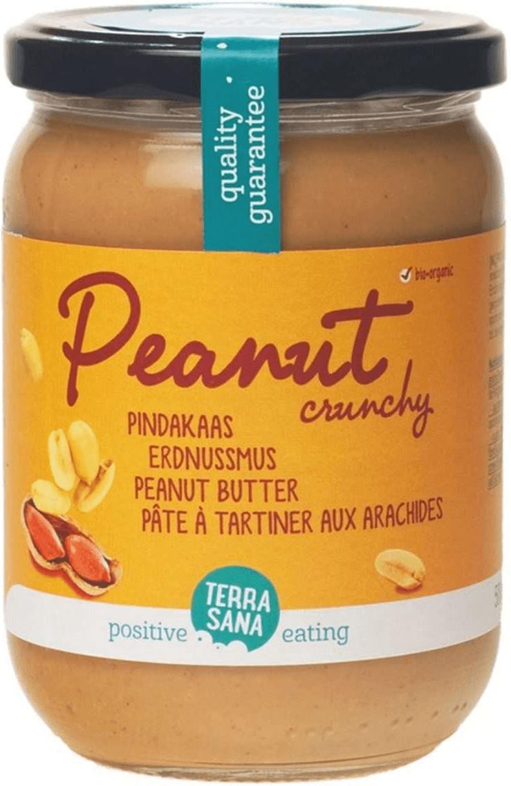 TerraSana Erdnussmus crunchy (500g)