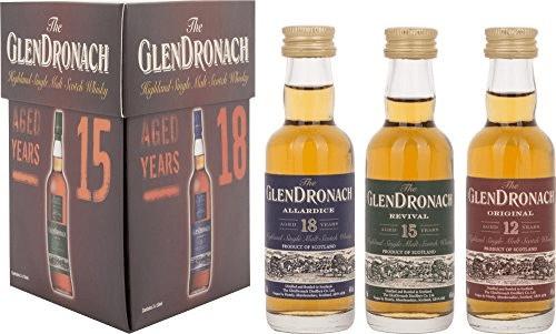 Glendronach Miniaturenset (12YO,15YO,18YO) 3x0,...