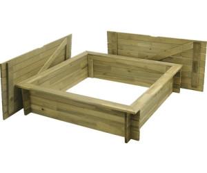 hornbach sandkasten aus holz mit deckel 120x120cm ab 59 00 preisvergleich bei. Black Bedroom Furniture Sets. Home Design Ideas