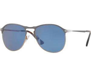 Persol 7649S Large Bleu/Bronze Vert Miroité Argent SHUEdeZ