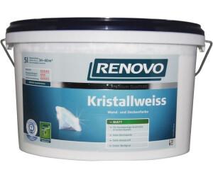 Renovo Wandfarbe Kristallweiss matt 2,5 l