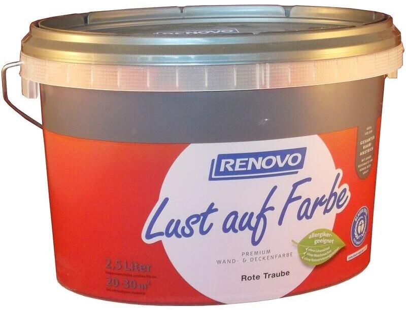 Renovo Wandfarbe Rote Traube matt 2,5 l