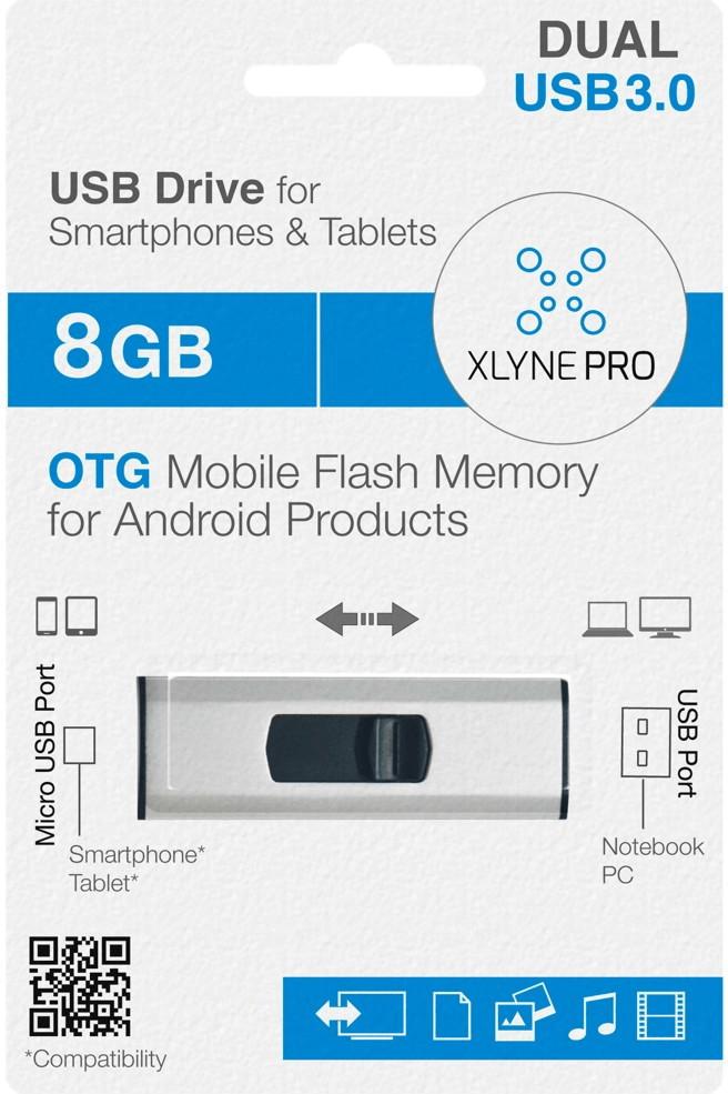 xlyne Pro OTG Dual Key 8GB