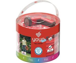 YOYO dehnbarer Gartenschlauch 15 Meter kompakt Rot Knick und Verdrehungsfrei