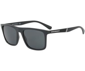 Emporio Armani Herren Sonnenbrille » EA4097«, schwarz, 5042Z3 - schwarz/silber
