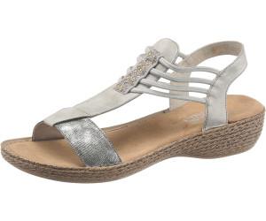 Rieker 658Y3 90 grau Damen Zurück Schuhe Sandalen Rieker