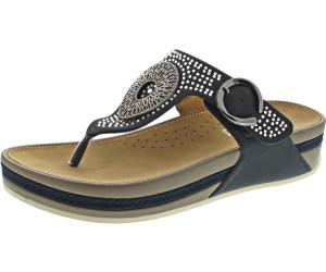 Details zu Rieker Damenschuhe Zehentrenner Sandalen Pantoletten V1460 14 Blau Pazifik Neu