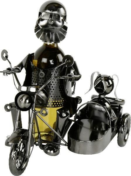 michel toys Flaschenhalter Biker mit Hund