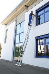 Günzburger Steigtechnik Schiebeleiter mit nivello®-Traverse 3x12 | Baumarkt > Leitern und Treppen > Schiebeleiter | Aluminium
