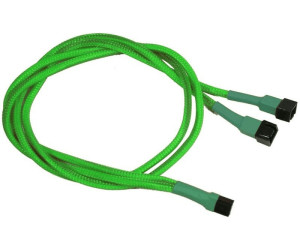 Nanoxia 3-Pin Y-Kabel - 60 cm - neon-grün