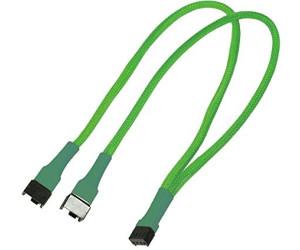 Nanoxia 4-Pin PWM Y-Kabel - 30 cm - neon-grün