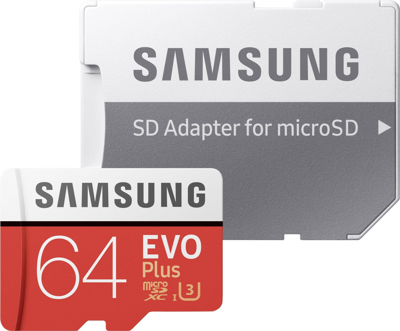 Samsung EVO Plus (2017) microSDXC 64GB (MB-MC64GA)